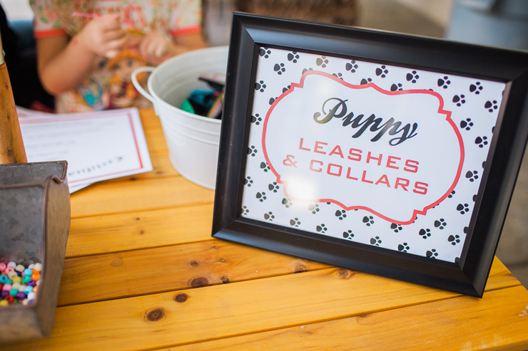 Make sure your puppy has a collar! This is a great craft idea for a puppy party!