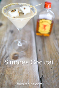S'mores Cocktail | A delicious taste of summer anytime you want it wrapped up in a delicious cocktail recipe.