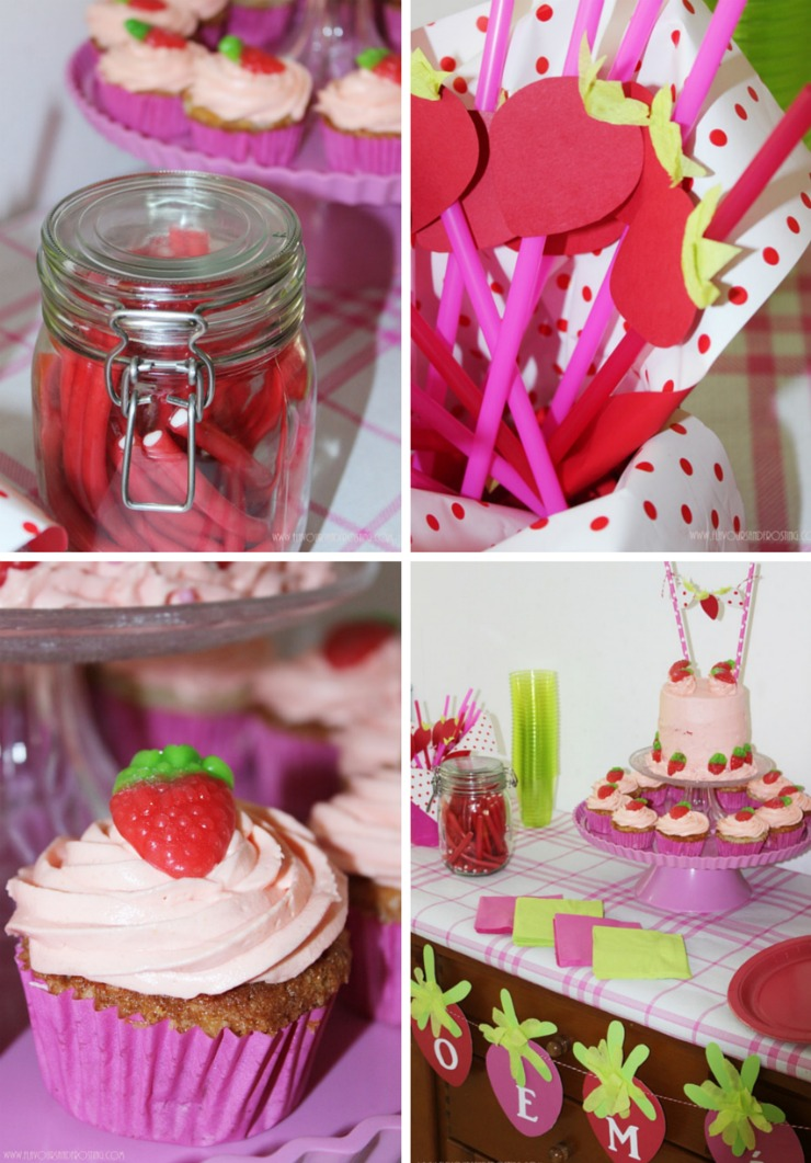 Strawberry Themed Party First Birthday Party