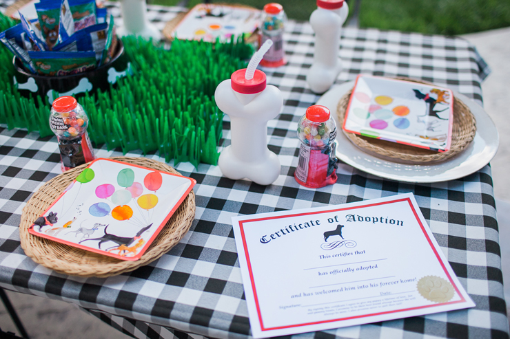 What a cute party set up for a puppy party!