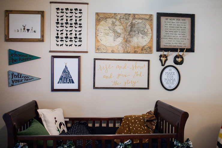 Mix and match patterns, graphics, and inspirational sayings for the perfect gallery wall.