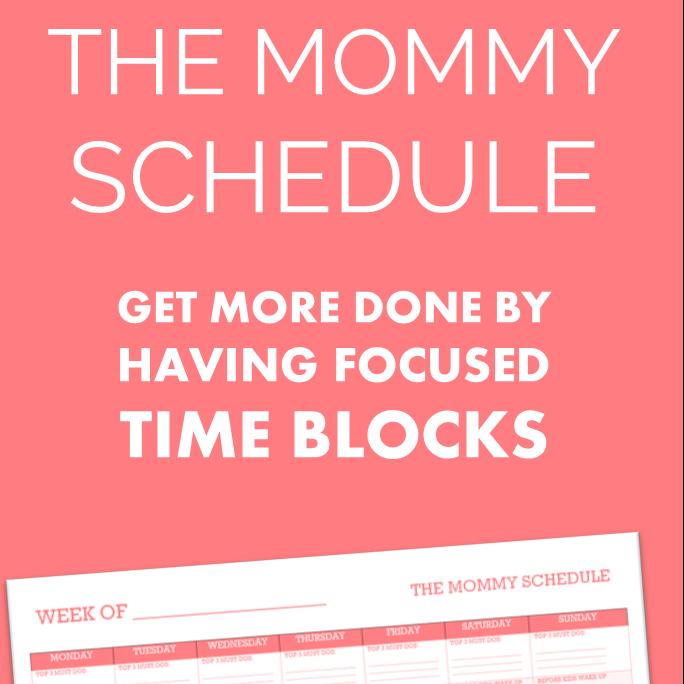 mommy schedule