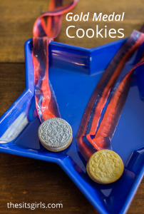 Make your own Gold Medal cookies! This cute snack is perfect for the Olympics!
