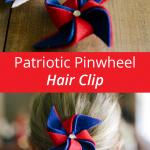 Patriotic Pinwheel Hair Clip