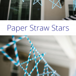 Perfect party decorations any time of the year — paper straw stars! Mix and match colors and patterns to match any decor. String them together to make a banner, or to make a full photo backdrop. Easy step by step instructions and a video tutorial will help you create the perfect stars.