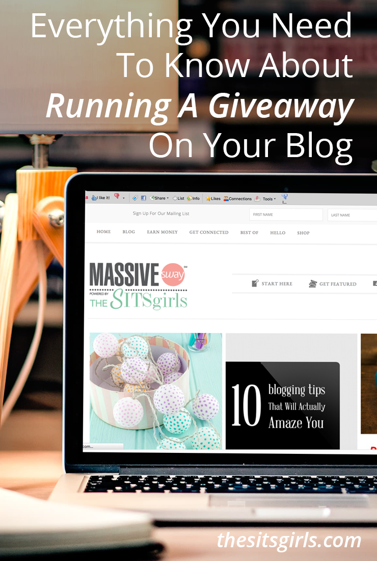 Learn how to run a successful blog giveaway! These five simple steps will help you stay organized, and make sure your winner followed all the rules.