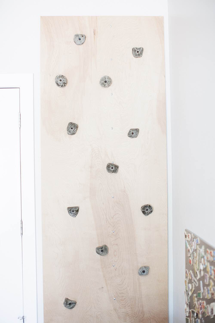 DIY Rock Climbing Wall