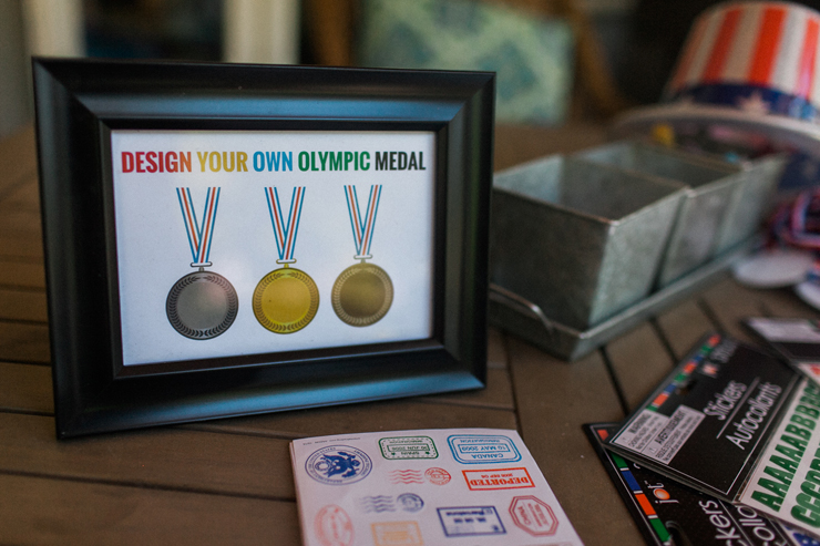 Design your own medal at this Olympic inspired party!