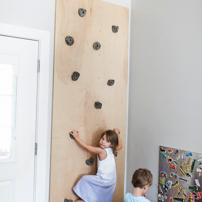 DIY Rock Climbing Wall For Your Kid's Playroom