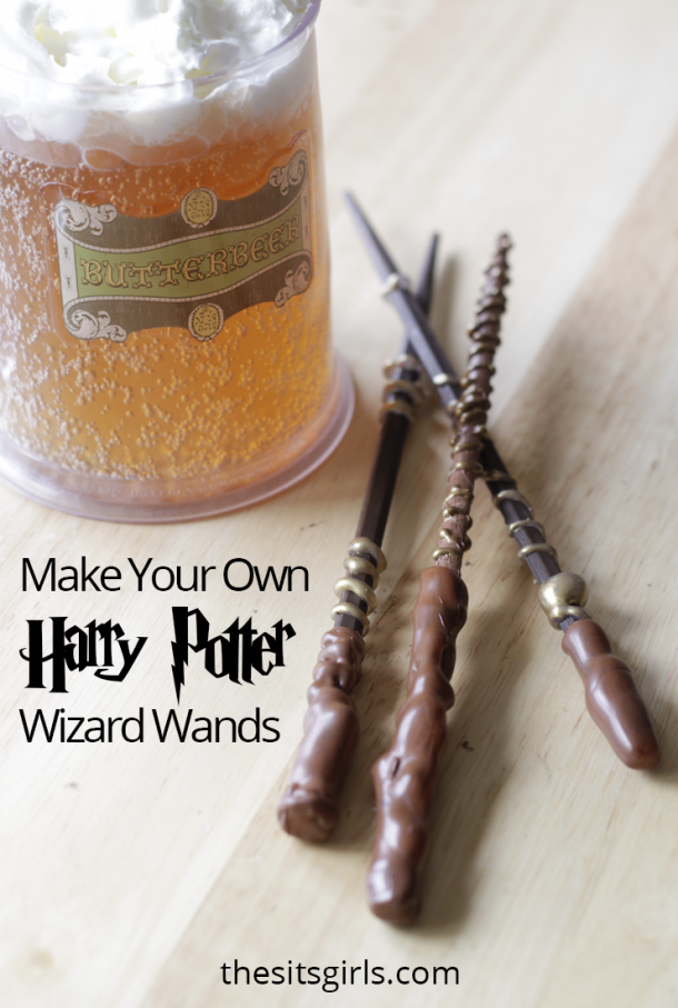 DIY Harry Potter Wand | This simple tutorial is perfect for making your own magic wands for a Harry Potter party or gift.