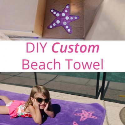DIY Custom Beach Towel