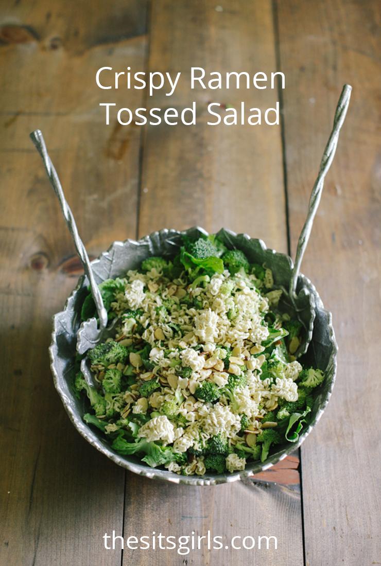 Crispy Ramen Tossed Salad is the best salad recipe we have ever had!