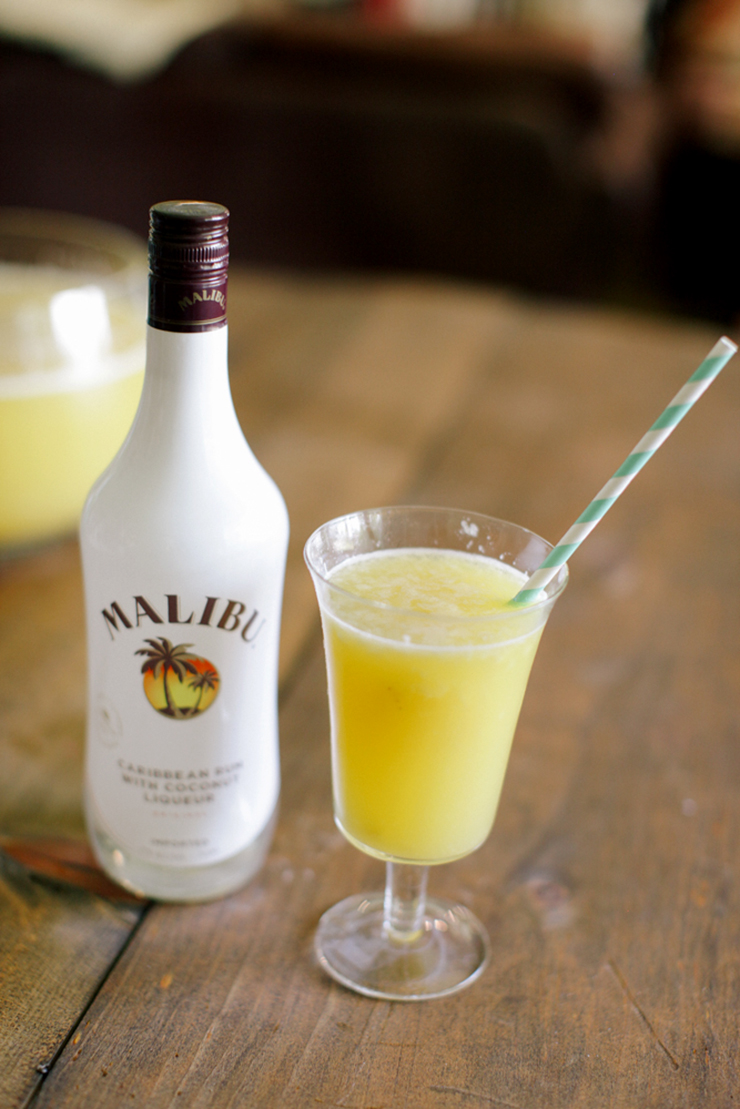 Give this tropical fruit punch an adult spin with some rum. Delish!