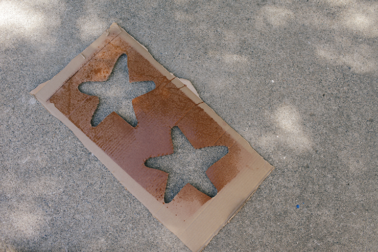 A simple piece of cardboard can transform in to a stencil.