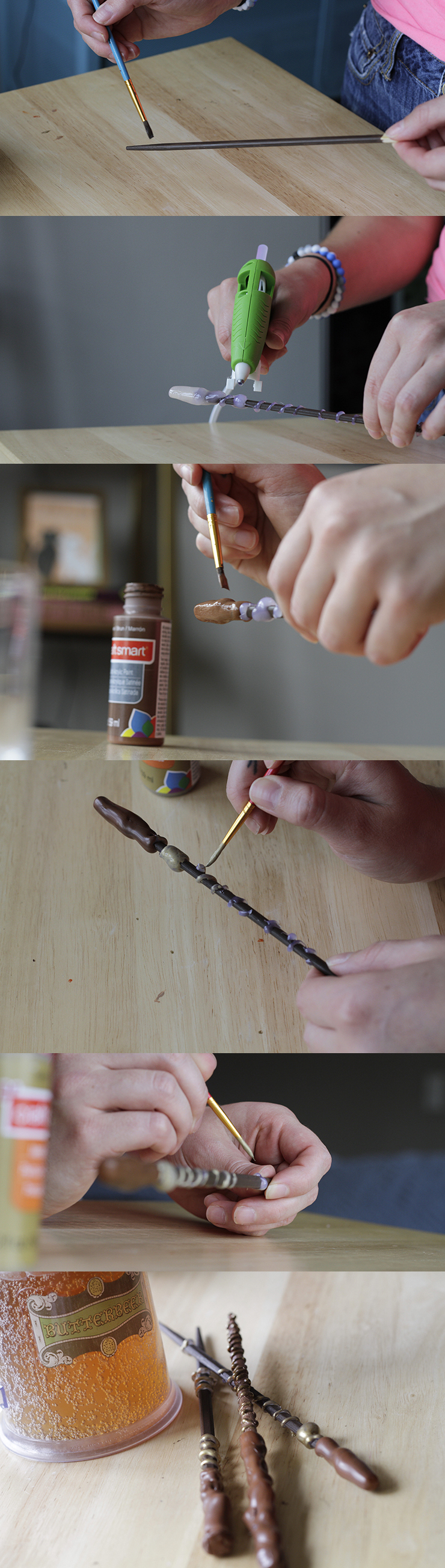 This simple tutorial will help you make a DIY Harry Potter wand. Perfect for a Harry Potter party or gift. So easy, it will feel like magic!