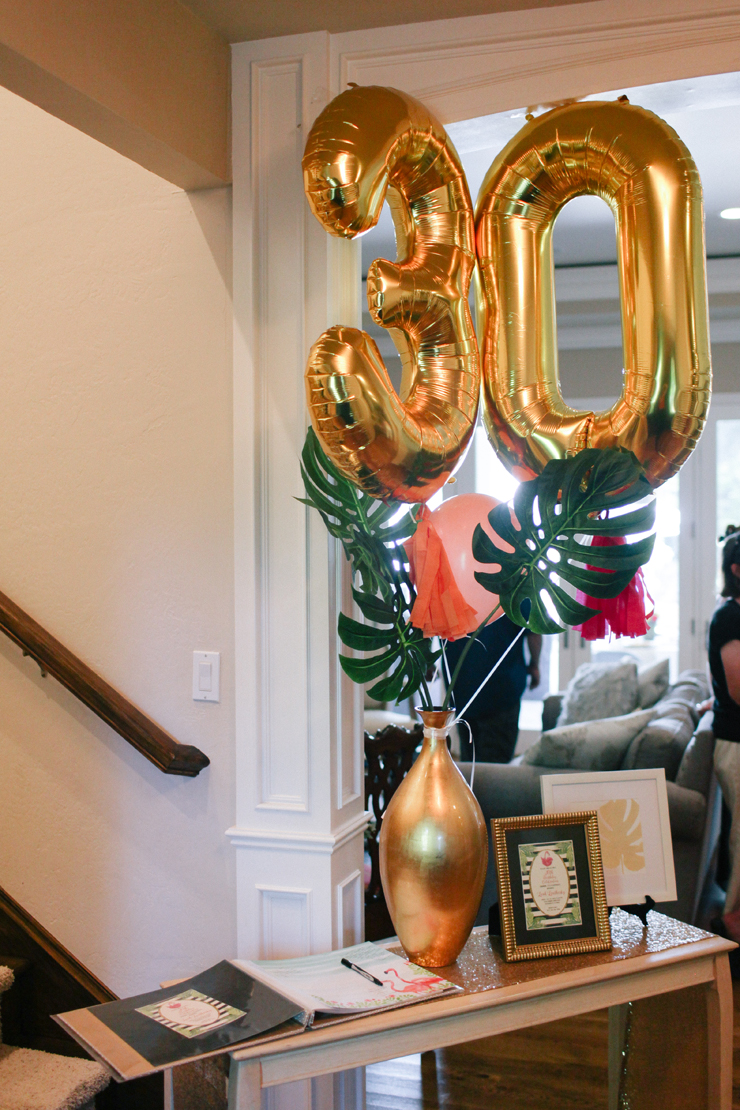 These fun gold balloons are perfect for any party.
