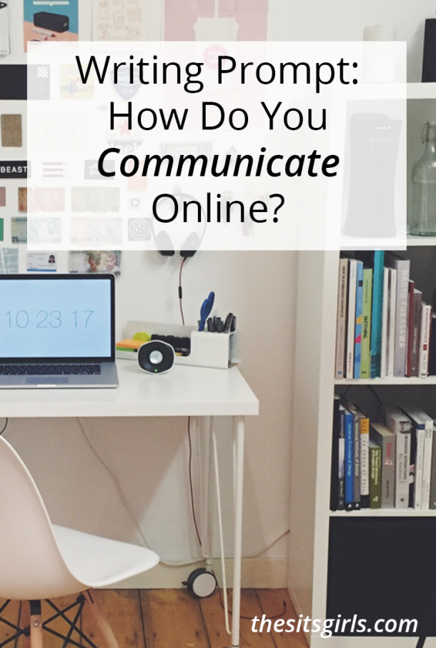 Great writing prompt for your blog or journal: communicating online vs offline.
