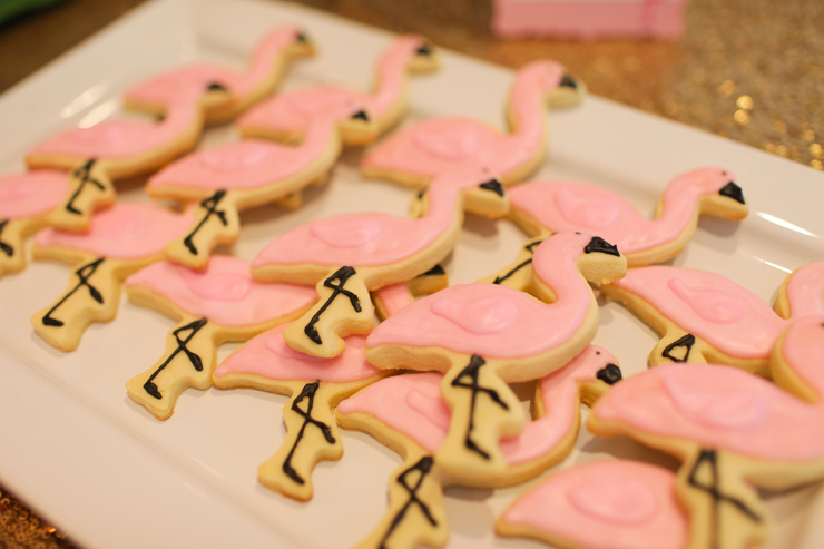 These flamingo sugar cookies were a guest favorite!