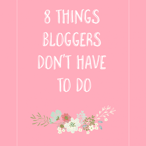bloggers don't