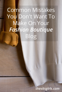 Great tips to avoid common mistakes online fashion boutiques make with their blogs.