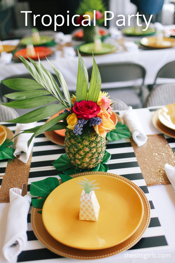tropical party hawaiian party tropical flamingo party ideas