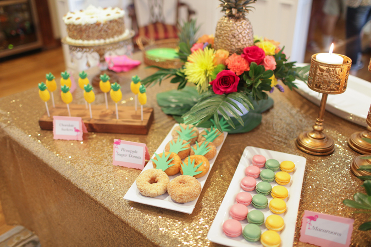 Tropical Party Food Table