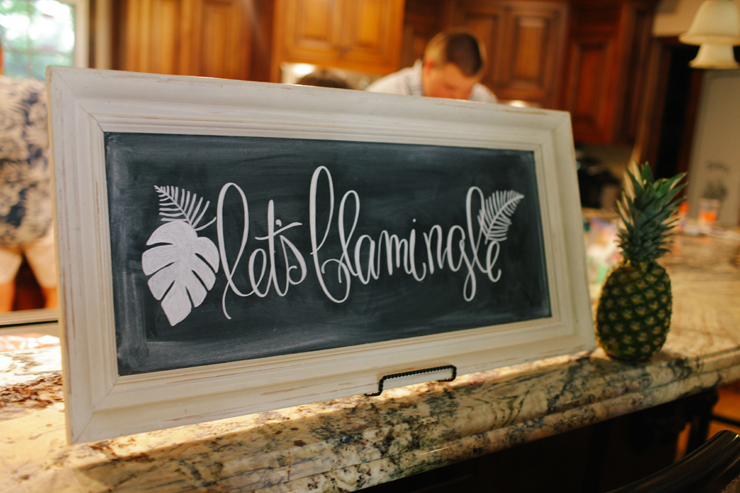 This signage is cutest sign for a Luau!