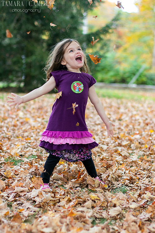 Throwing Leaves In The Air | Fall Photography Ideas