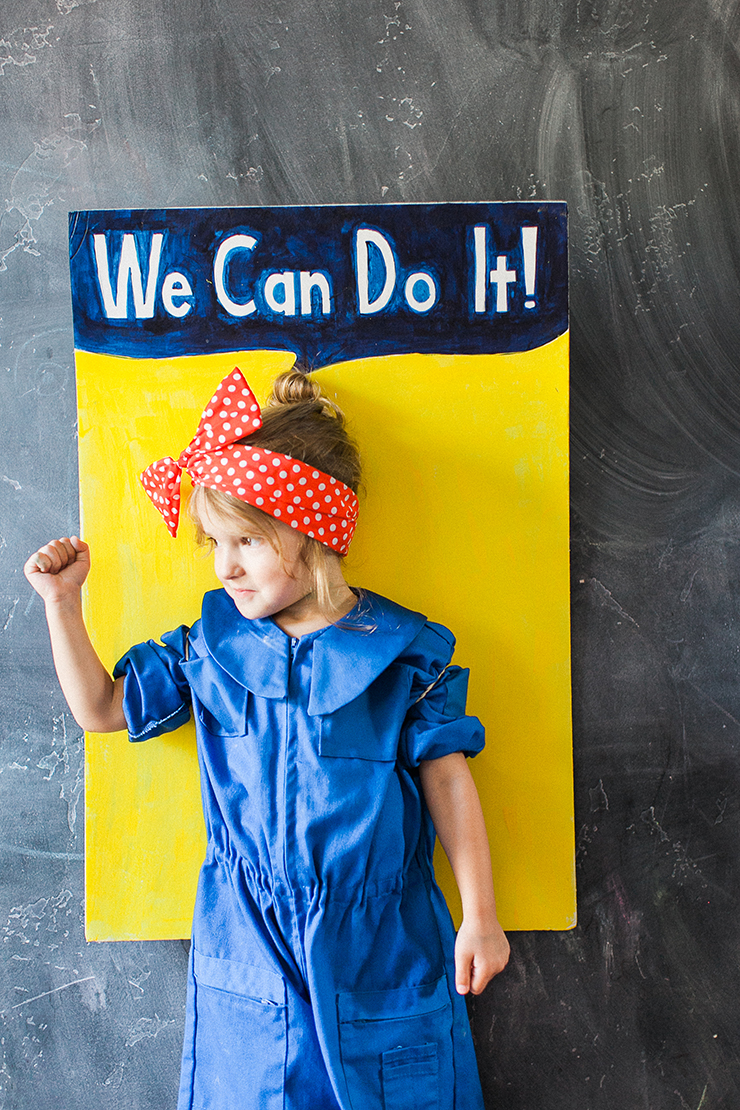 this is the cutest costume - Rosie The Riveter Halloween Costume