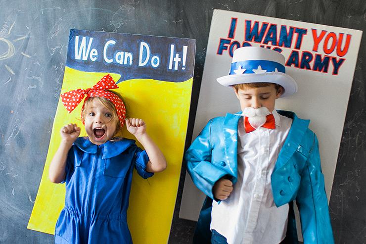 Rosie the Riveter Halloween Costume | Uncle Sam Halloween Costume
