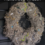 Creepy-Crawly Halloween Wreath   This project is super easy to make and the materials only cost $10!