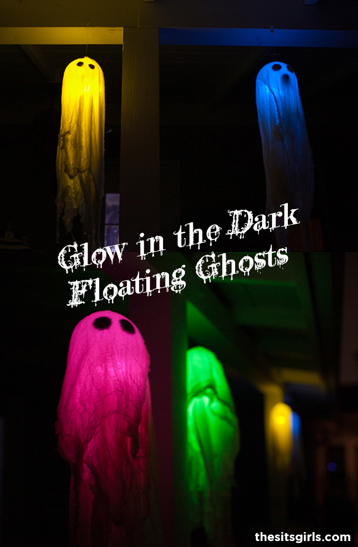 Glow in the dark floating ghosts