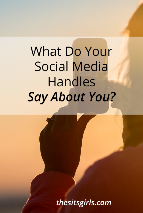 Social Media Tips | Think about what your social media handles say about you, and be strategic when you are setting up new accounts.