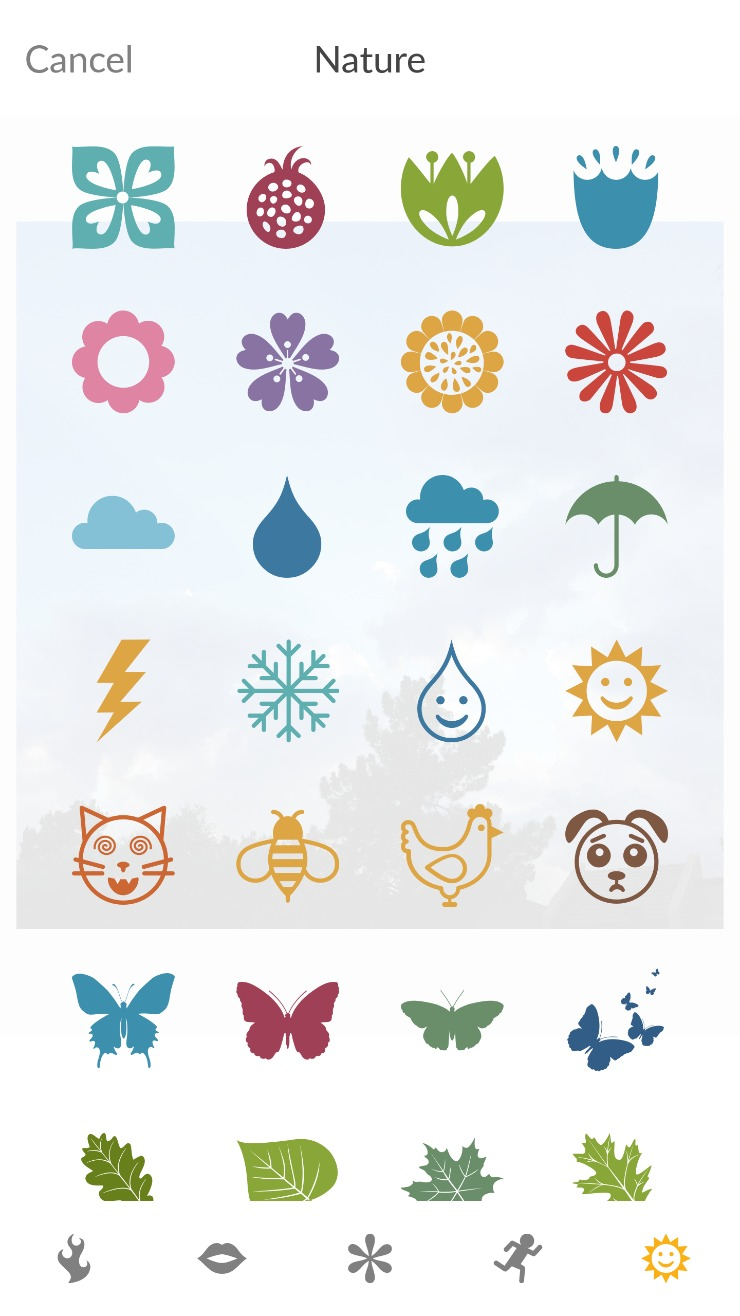 PicMonkey Mobile App Stickers