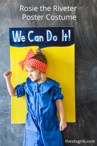 Rosie The Riveter Halloween Costume | Recreate the look of the iconic Rosie the Riveter poster in this easy, DIY Halloween costume.