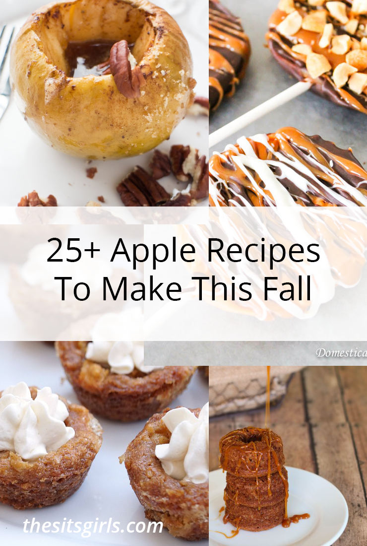 Move over pumpkin spice... it's apple season! This list of more than 25 amazing apple recipes is everything you need to celebrate fall. Delicious ways to make apple recipes easy.