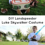 Make your own Luke Skywalker costume complete with this DIY Landspeeder! It's an easy project for your favorite Star Wars fan.