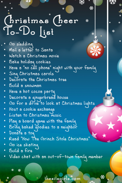 The perfect to-do list for experiencing Christmas cheer!