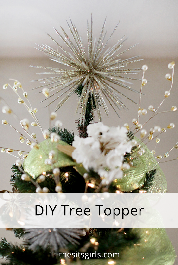 Make your own tree topper this year! DIY Christmas decorations don't have to look homemade.