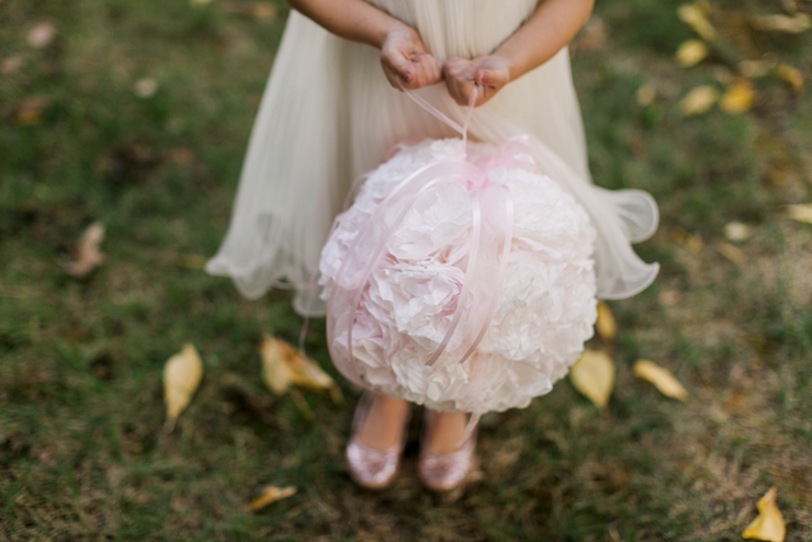 This Beautiful Flower Ball Is Made From Coffee Filters
