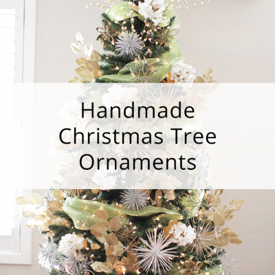 Handmade Christmas Tree Ornaments With Toilet Paper Rolls And Toothpicks