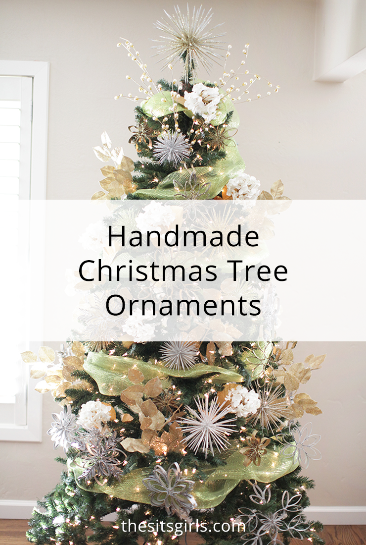Handmade Christmas tree ornaments are easy to make with these tutorials. Decorate your whole Christmas tree using toilet paper rolls and toothpicks!
