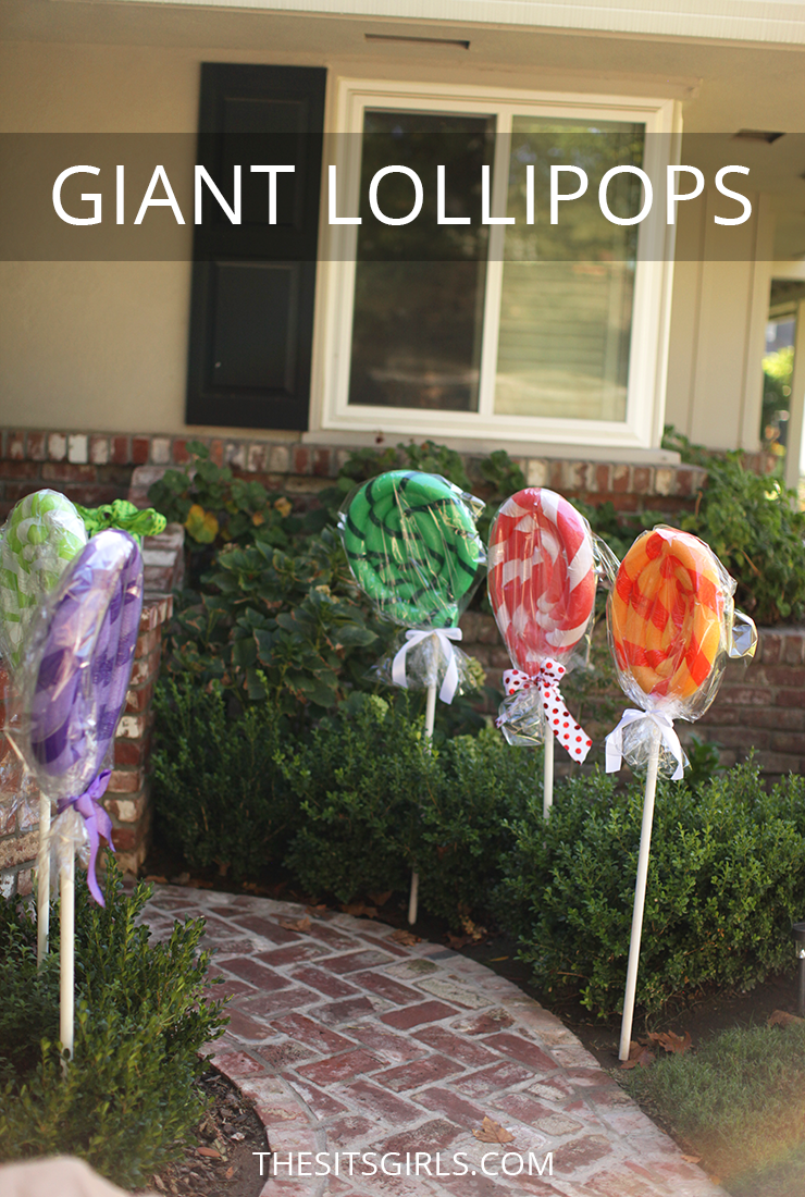 Giant Lollipops are a must for a Candy Land party!