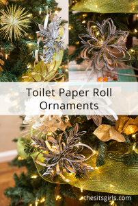 Learn how to make toilet paper roll ornaments! When you make your own snowflake ornaments, no two have to look alike!