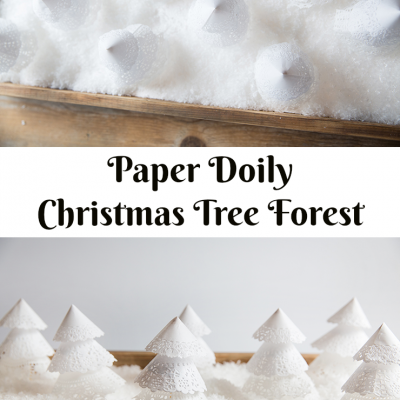 Paper Doiley Christmas Trees