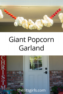 Turn the idea of traditional popcorn garland into something spectacular with this tutorial for making GIANT popcorn garland to hang outside. A can of foam sealant will help you make this easy Christmas decoration.