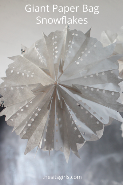 Perfect for party decorations or a fun afternoon project with the kids - giant paper bag snowflakes. Make a stunning feature wall for your next party, or hang your paper snowflakes from the ceiling. Easy step by step instructions and a video tutorial will help you create the perfect snowflakes.