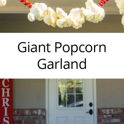 Giant Popcorn Garland