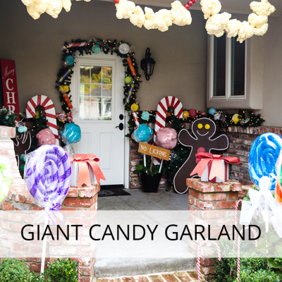 Decorate Your House Like A Gingerbread House With This Giant Candy Garland