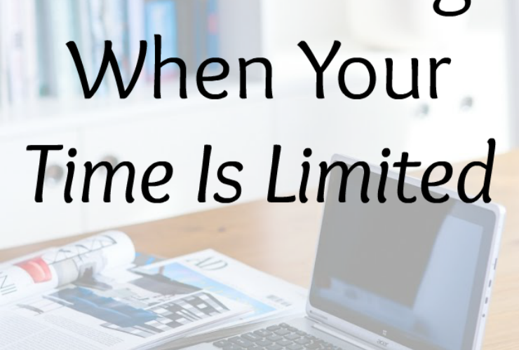 How to Blog When Your Time Is Limited